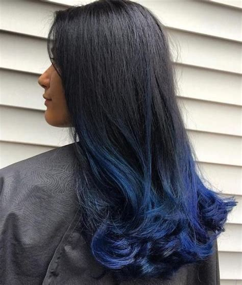 Gimme The Blues Bold Blue Highlight Hairstyles In 2019