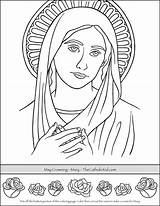 Coloring Crowning Mary Crafts Thecatholickid Catholic Adult Printable Saint Blessed Mother Jesus Children Craft Bible Scroll Religious sketch template