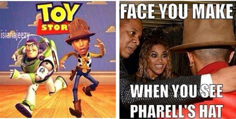 Pharrell Meme - pharrell is auctioning that hat on ebay