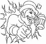 Beer Coloring Advertising sketch template