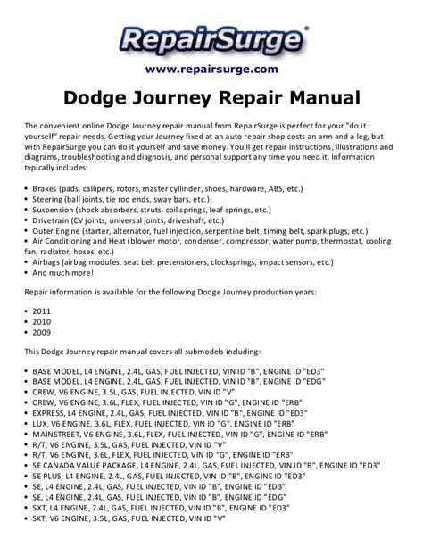 car maintenance manuals 2011 dodge journey auto manual dodge journey repair manual 2009 2011