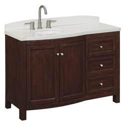 allen roth moravia sable undermount bathroom vanity with