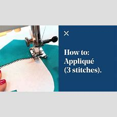 How To Appliqué (3 Different Stitches) Youtube