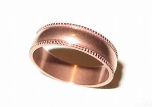Pure Solid Copper Ring Band Wedding 8mm Rope Border Style ...