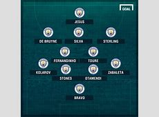 In place of Aguero or out wide where will Gabriel Jesus