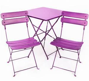 Salon De Jardin Pliant : salon de jardin pliant violet mat 2 places 109 salon d 39 t ~ Dailycaller-alerts.com Idées de Décoration