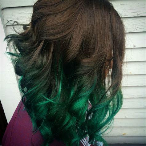 Green Balayage Green Greenhair Hair Balayage Hair