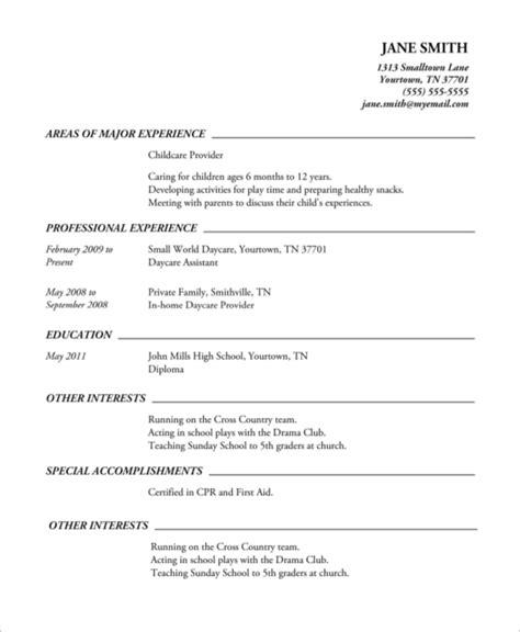 8 high school resume exles sle templates