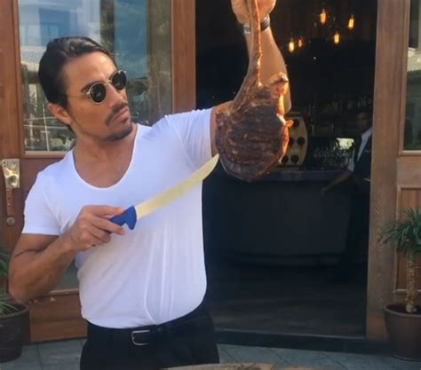 video   attractive chef salting  steak