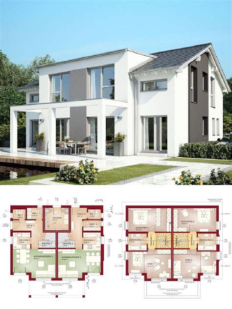 Haus Bauen Mit Architekt by Stadtvilla Als Doppelhaus Architektur Modern Mit