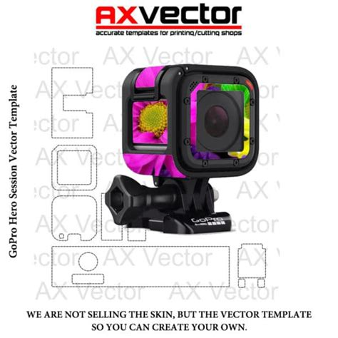 gopro templates gopro session vector template