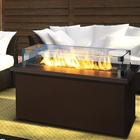 propane fire table glass key west propane gas coffee fire pit table by firegear