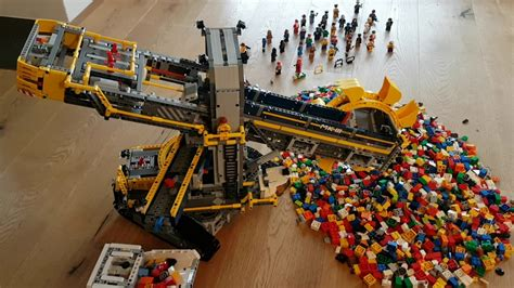 Lego Schaufelradbagger Schaufelt Lego Youtube