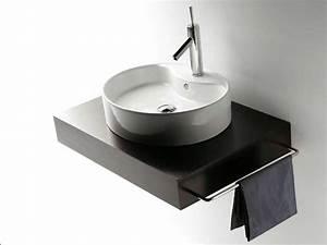 Möbel Für Aufsatzwaschbecken : waschtisch mit aufsatzwaschbecken rund keramik ~ Markanthonyermac.com Haus und Dekorationen
