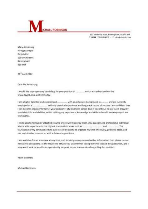 cover letters letter templates  cover letter template