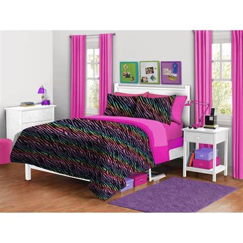 Hello Bedroom Decor At Walmart by Your Zone Zebra Plush Reversible Comforter Set Shopping