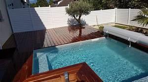 Piscine Avec Terrasse Bois : mini piscine en bois avec terrasse en bois vercors piscine ~ Nature-et-papiers.com Idées de Décoration