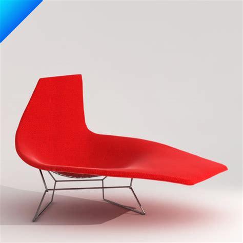 chaise bertoia knoll 3d bertoia asymmetric chaise knoll furniture
