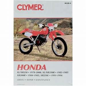 Clymer Repair Manual - Honda Xl  Xr 250  350r  200r