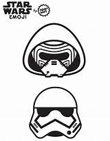 Coloring Wars Emoji Star Pages Stormtrooper Sheets Fourth Printable Nerdy Fashionably Fashionablynerdy sketch template