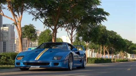 All ferrari f40s came from the factory painted an identical shade of red. Take a minute to admire this rare blue Ferrari F40