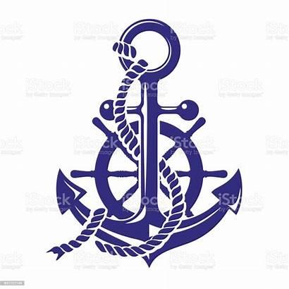 Anchor Wheel Ships Vector Symbol Background Ship
