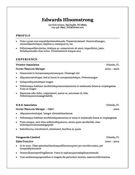 Resumes Formats And Exles by 25 Best Professional Resume Exles For Your Next