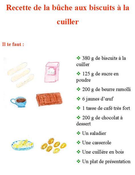 exemple de recette de cuisine bûche de noël au biscuits tête à modeler