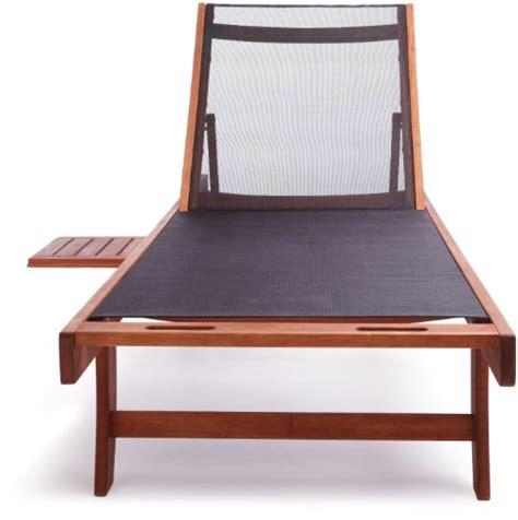 strathwood basics chaise lounge chair with textilene