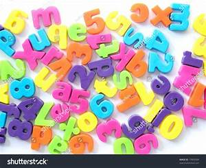 Plastic magnetic letters numbers stock photo 13903504 for White magnetic letters and numbers