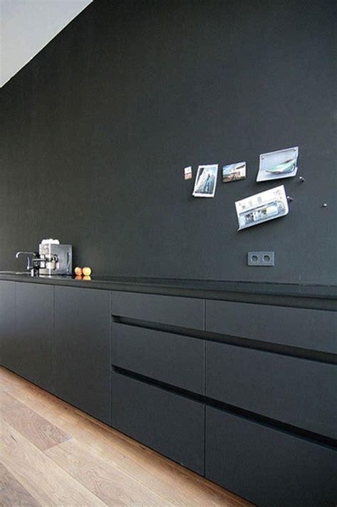 meuble cuisine formica mat zwarte keuken interieur inrichting