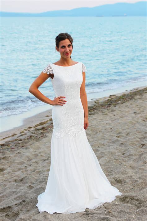 Bohemian Wedding Dress Beach Wedding Dress Lace By