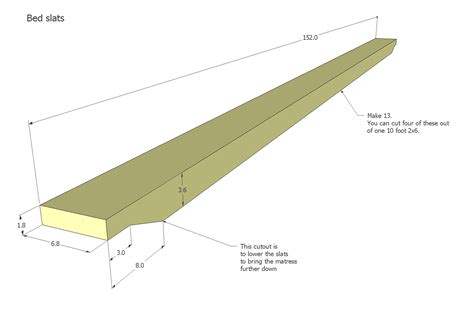 bed queen frame plans rail clips slat allow everything shows into woodgears plan