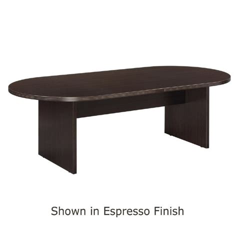 8 foot conference table 8 foot x 44 inch racetrack conference table espresso