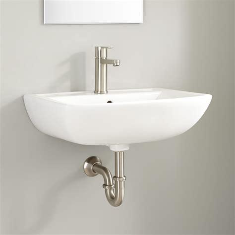 wall mounted basin sink kerr porcelain wall mount bathroom sink wall mount sinks