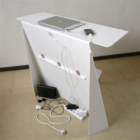 range cable bureau console bureau d 39 appoint en acier zeta studio manzano