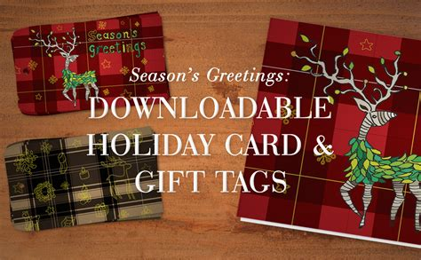 Downloadable Holiday Card & Gift Tags