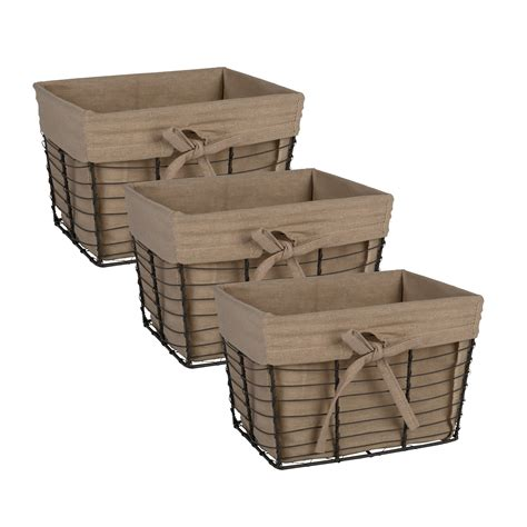 storage basket containers bins box cube wire fabric liners