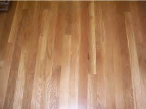 red oak hardwood floor stained golden oak and coated with