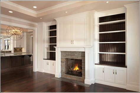 gas fireplace with built in cabinets built in bookshelves around fireplace american hwy
