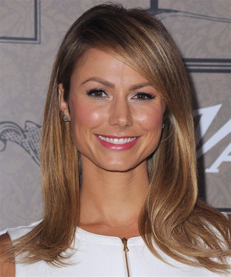 Stacy Keibler Long Straight Formal Hairstyle with Side