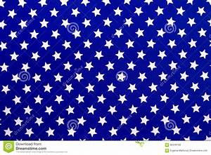White Stars On A Blue Background Stock Photo - Image: 66449193
