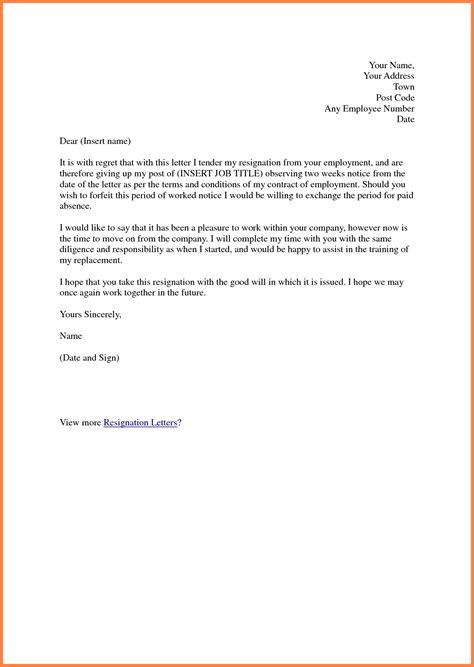 2 week notice letter for work 7 2 week notice letter for work notice letter 49904