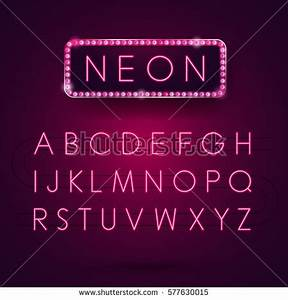 Pink Neon Stock Royalty Free & Vectors
