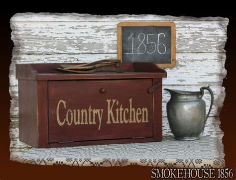 country kitchen bread company country kitchen bread box primitive smokehouse by 5997