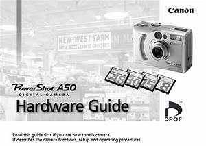 Canon Powershot A50 Manual  Owner User Guide And Instructions
