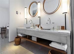 Bois Pour Salle De Bain : mobilier bois pour salle de bain de chambre d 39 h tel ~ Melissatoandfro.com Idées de Décoration