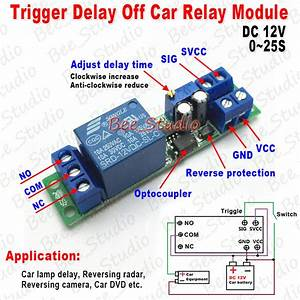 Dc12v Signal Trigger Delay Turn Off Adjustable Timer