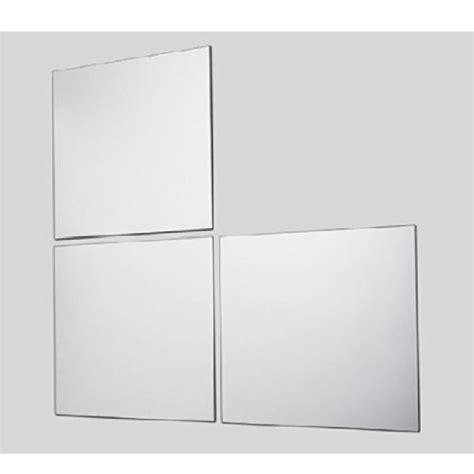 lot de 3 miroirs adh 233 sifs carr 233 s identiques gris achat