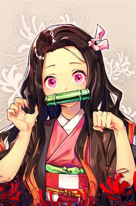 nezuko kimetsu  yaiba  dpea slayer anime mobile